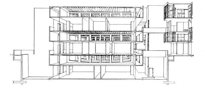 Sectional view of Salk Institute