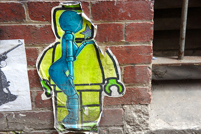 Street art graffiti Duckboard Place Melbourne