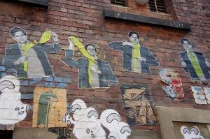 Street art graffiti Duckboard Place Melbourne