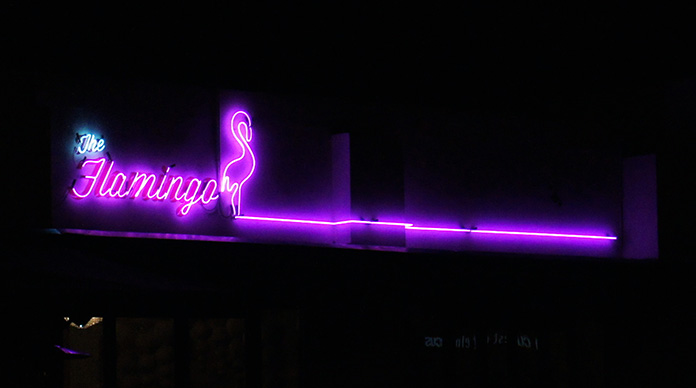 neon sign melbourne flamingo