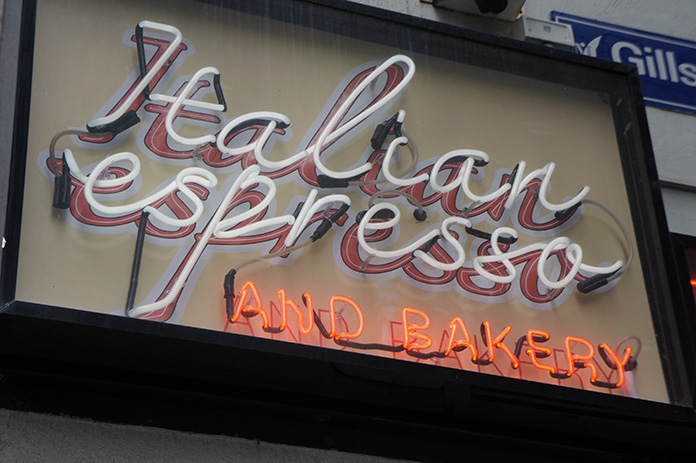 neon sign melbourne italian espresso