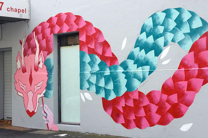 Chinese dragon street art greville prahran melbourne